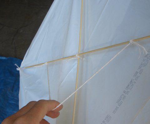 how to make a kite with a trash bag