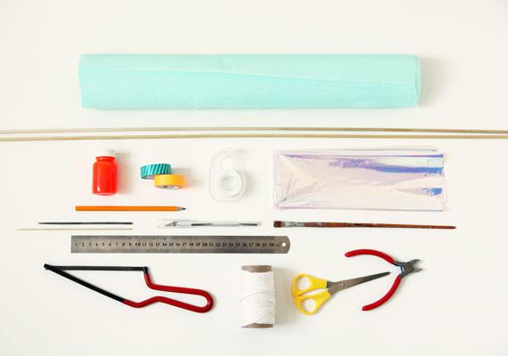 homemade garbage bag kite materials