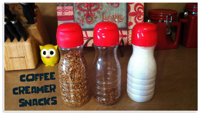 Recycled Coffee Creamer Bottles