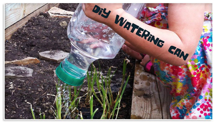 Plastic Bottle Watering Can