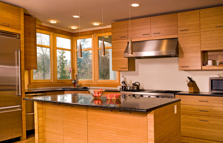 Green remodeling tips: bamboo cabinets