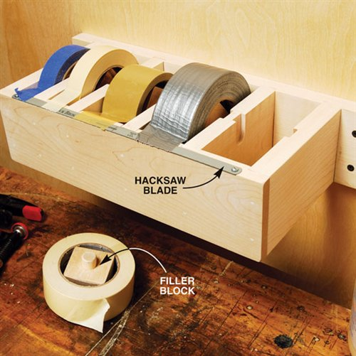 Make a tape dispenser for dad this Father's Day