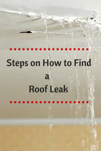 Roof leak steps pinterest