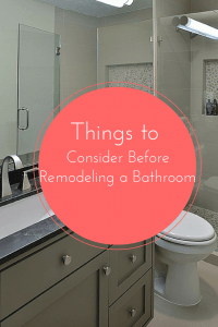 Things to Consider Before Remodeling a Bathroom Pinterest