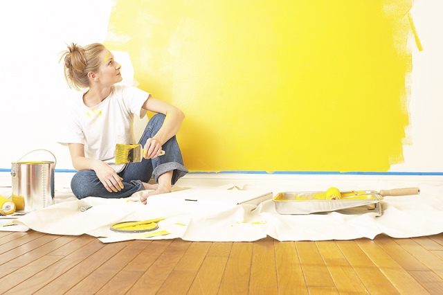 Painting a room does not require a permit.