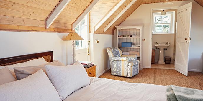 Top-Floor Bedroom Suite With Attached Bathroom