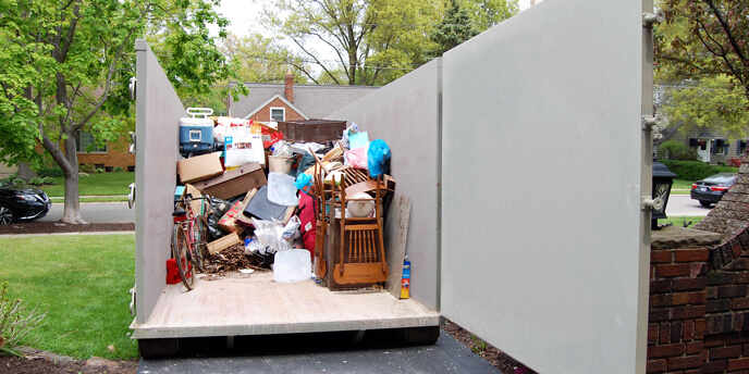 Using a Dumpster for a Garage Clean Out