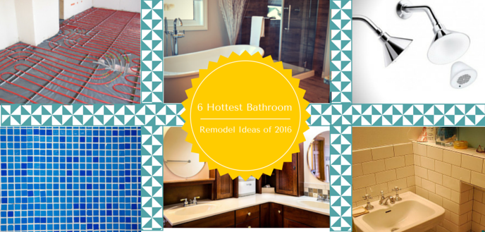 Check out the 6 hottest bathroom remodeling trends of 2016 and discover some great ideas for your own home improvement and bathroom remodel projects.