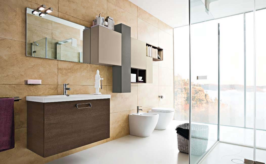 Small Bathroom Tile Ideas To Transform A Cramped Space - Bathroom floor to ceiling cabinet for bathroom decor ideas