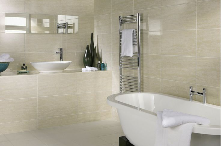 Genial Small Bathroom Tile Idea # 1: Choose Large Tiles