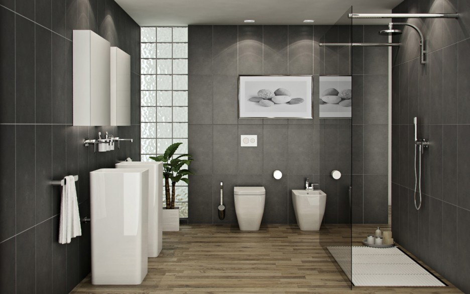 Small Bathroom Tile Ideas: Vertical Tiles