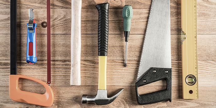 Home Remodeling Tools on Table