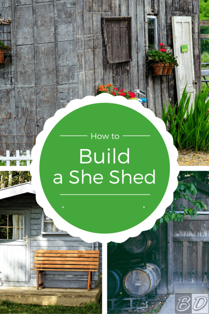 She sheds are the latest DIY home improvement trend providing a place for women to retreat to get away from chores and the kids for a while. Learn how to build your own she shed with this post!