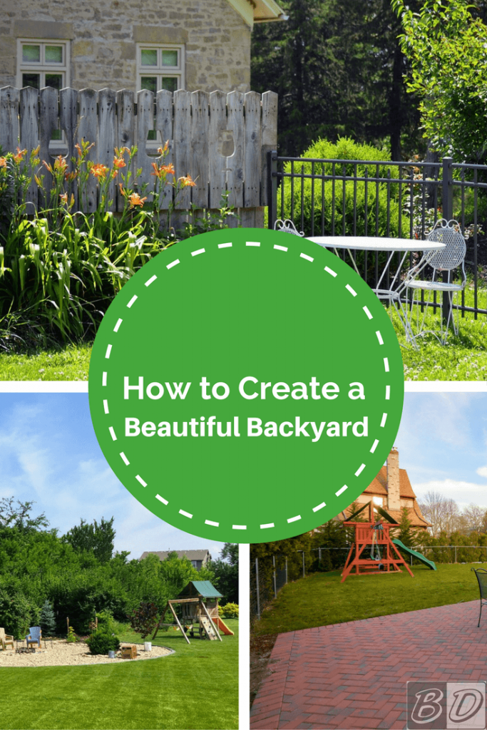 Learn How To Create A Beautiful Backyard With These DIY Landscaping Tips.  Discover How Easy