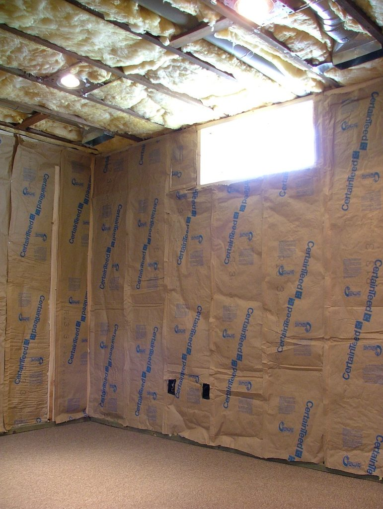How to finish a basement from floor to ceiling for Blanket insulation basement walls