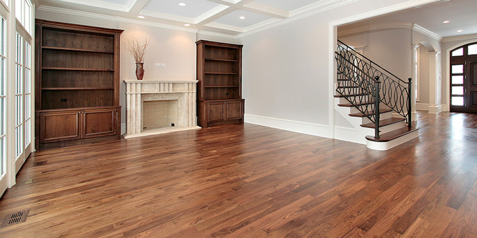 Eco-Friendly Hardwood Flooring in Newly Renovated Modern Living Room
