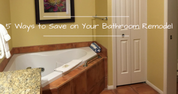 A DIY bathroom remodel can be an expensive project, even without a contractor. If you are looking to save on your DIY bathroom project, you need to take a look at these 5 simple ways to slash the cost of your bathroom remodel.