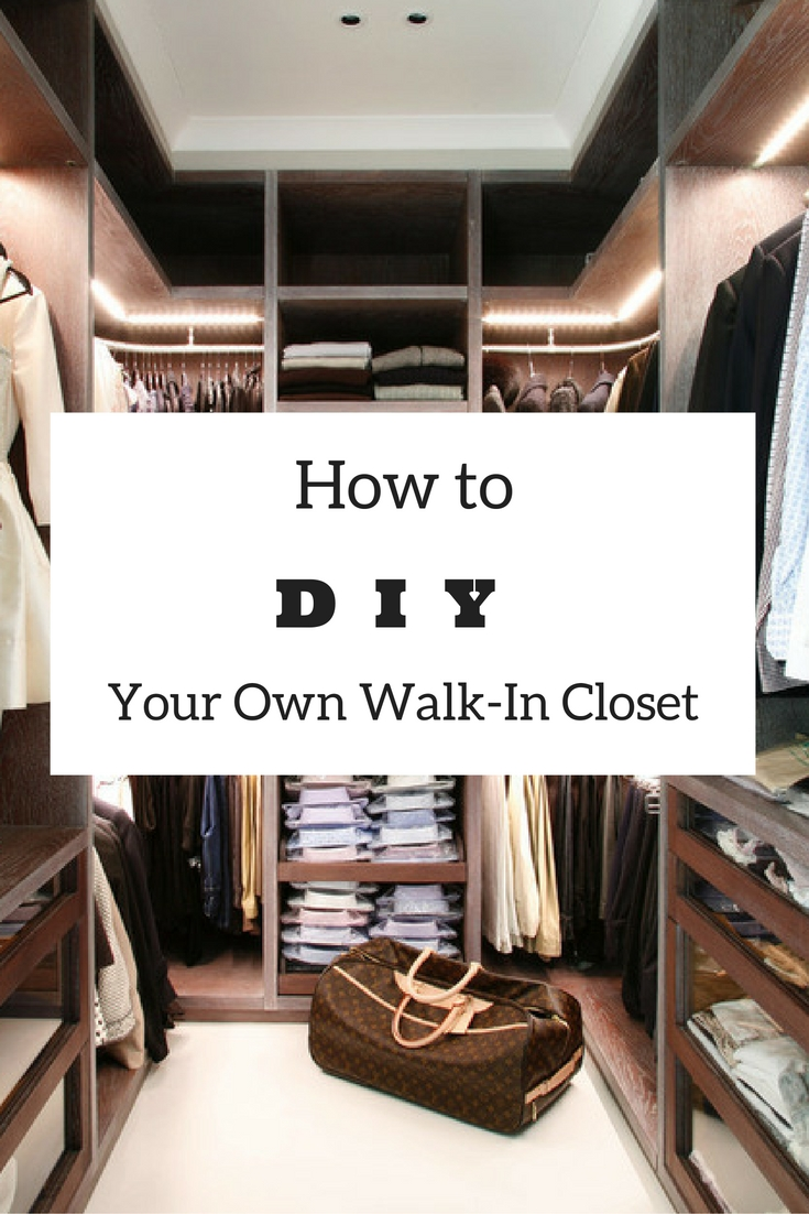 Building your own closet is surprisingly simple! Learn how to build a walk -in