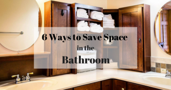 With these 6 space saving ideas you'll finally be able to organize your bathroom and reclaim your counter space. Learn how to organize your bathroom with pull-out shelving, unique storage solutions, towel rods, shelves in high places and more bathroom organization tips.