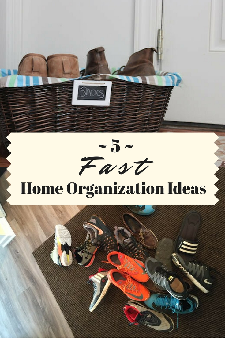 Got clutter? These 5 organization ideas are fast enough to start today and simple enough to still be using tomorrow.
