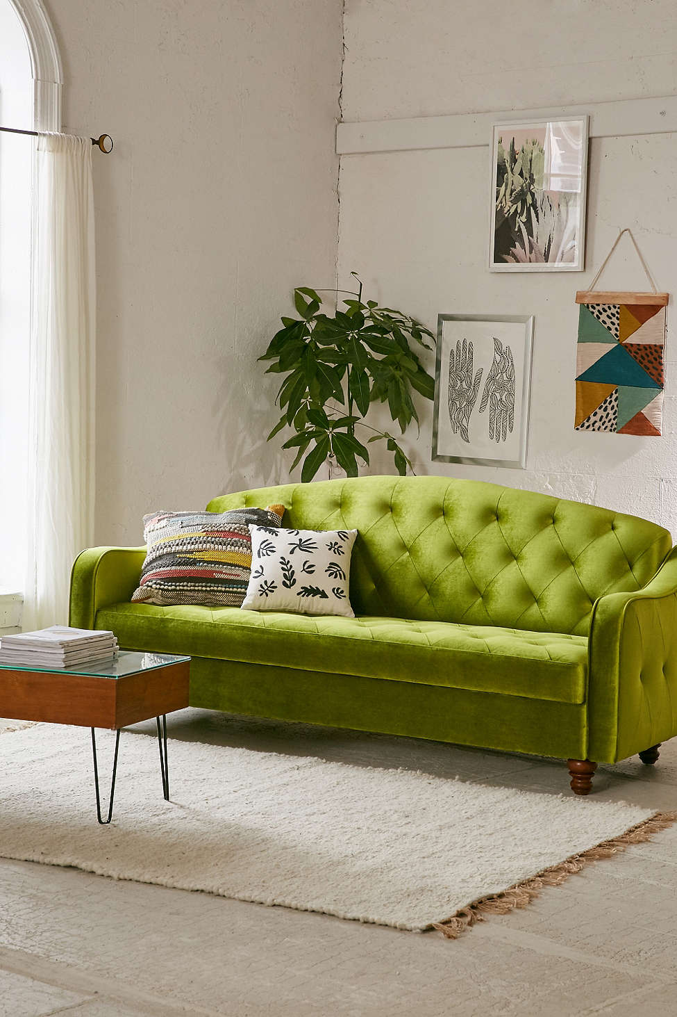 Pantone Color of the Year: Greenery Sofa