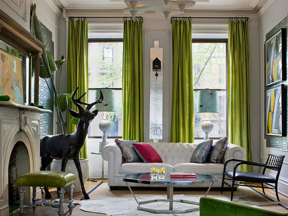 Pantone Color of the Year: Greenery Drapes