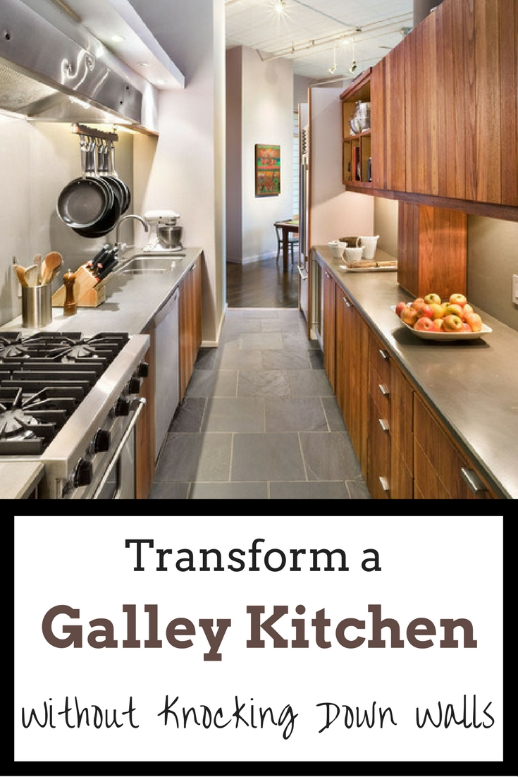 Kitchen Makeover Ideas Pictures Part - 43: Learn How To Make A Galley Kitchen Feel Bigger Without Knocking Down Walls.