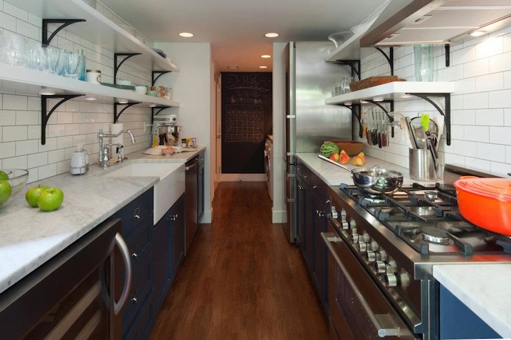 Galley Kitchen Remodel Dark Cabinets galley kitchen makeover ideas to create more space