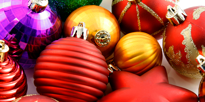 Pile of Christmas Decorations