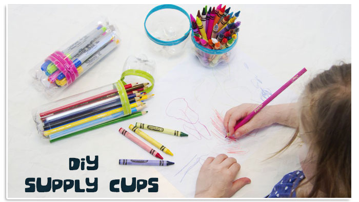 DIY Plastic Bottle Supply Cups