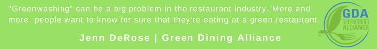 Quote from GDA on greenwashing.