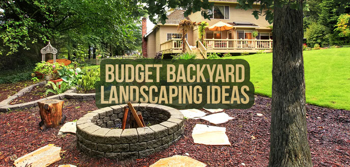 10 ideas for backyard landscaping on a budget budget dumpster. Black Bedroom Furniture Sets. Home Design Ideas