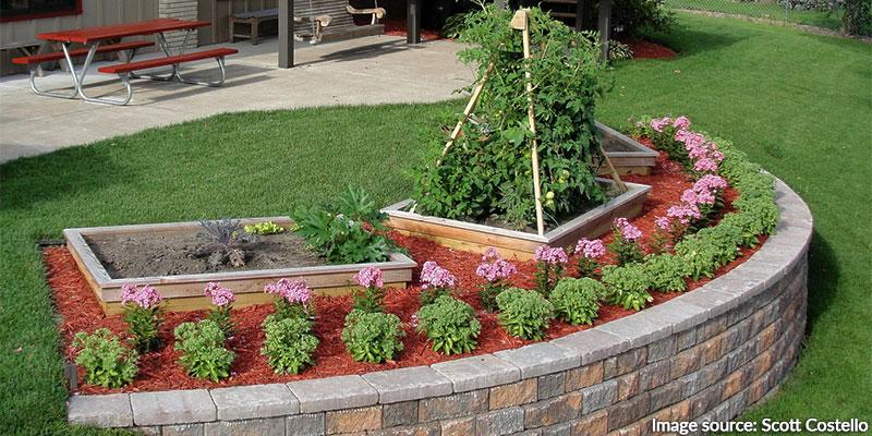 diy brick flower beds