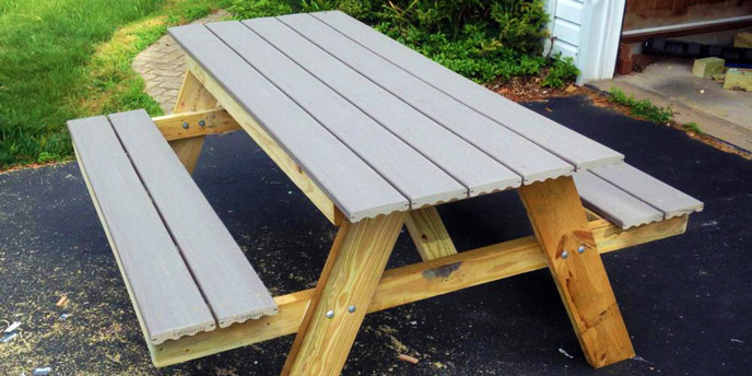 Picnic Table Adds Useful Space to Garden