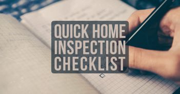 Quick Home Inspection Checklist