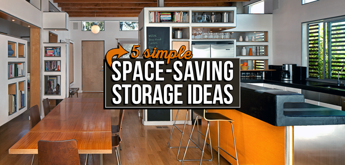 5 storage ideas for small homes, apartments and spaces