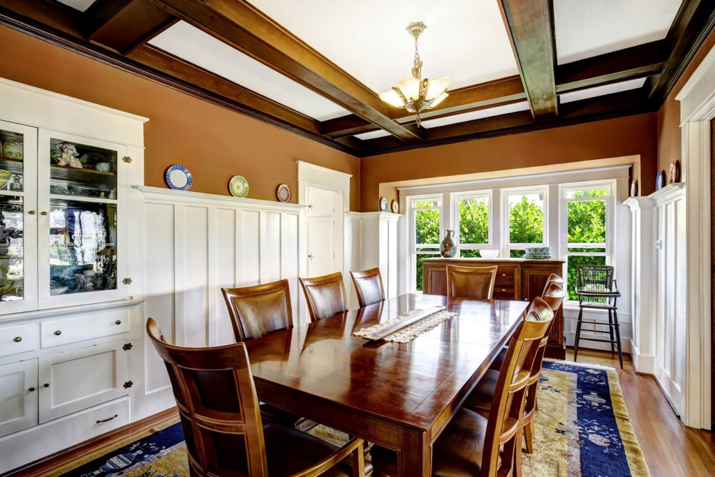 Installing coffered ceiling