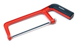 A red hacksaw, a must-have DIY tool.
