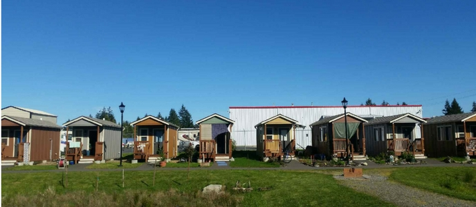 Tiny home Neighborhood at Quixote Village