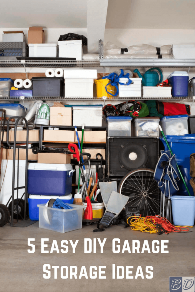 Tired of having a cluttered garage? Use these DIY storage ideas in your garage to keep your tools, bins and more off the floor and in their right place.