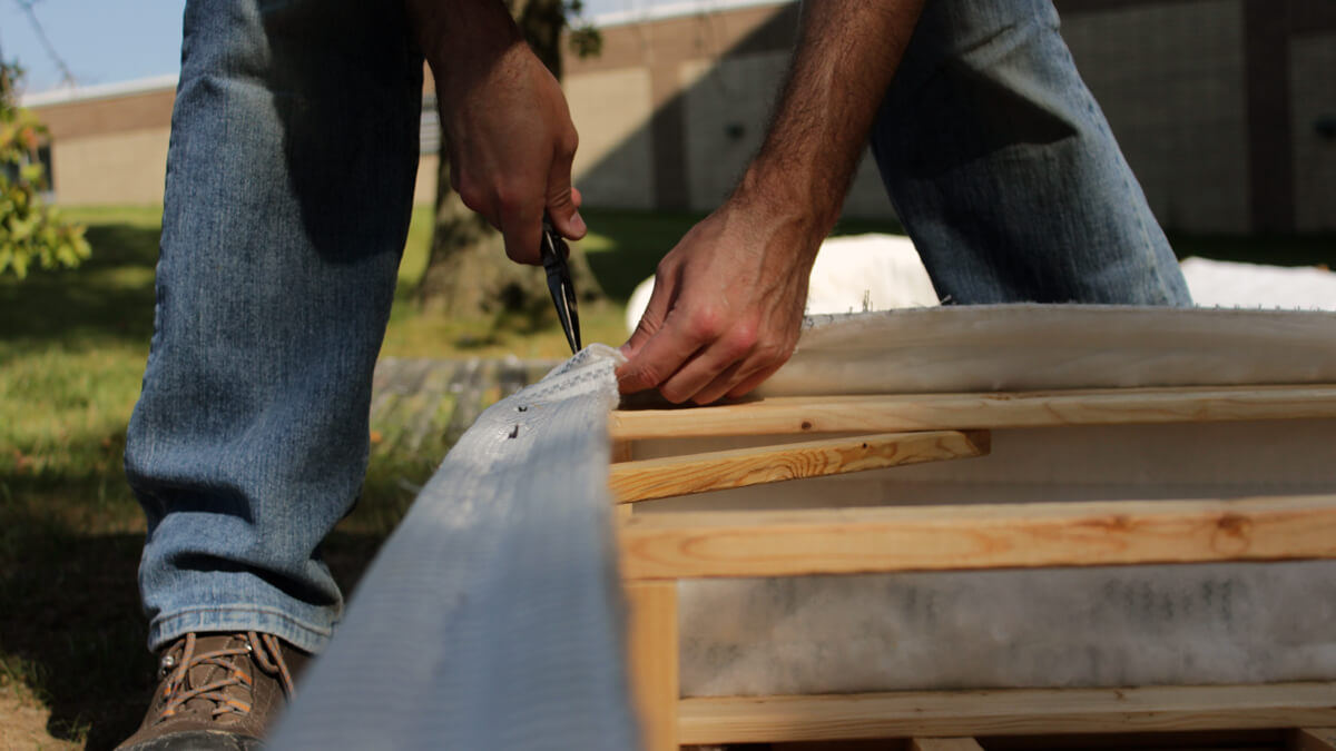 Cut Staples From Box Spring