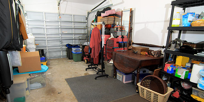 Disorganized Garage