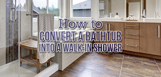 How to Convert a Bathtub Into a Walk-In Shower