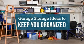 Messy Garage in Need of Storage Solutions