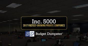 Budget Dumpster Wins 2017 Inc. 5000