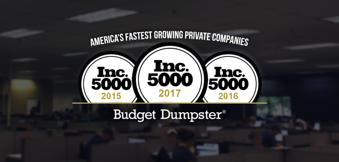 Budget Dumpster Named to Inc. 5000