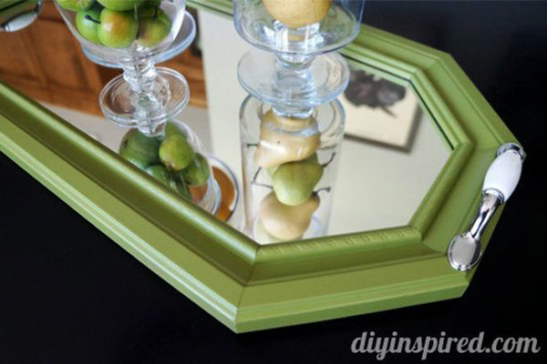Image of a DIY Repurposed Mirror Tray