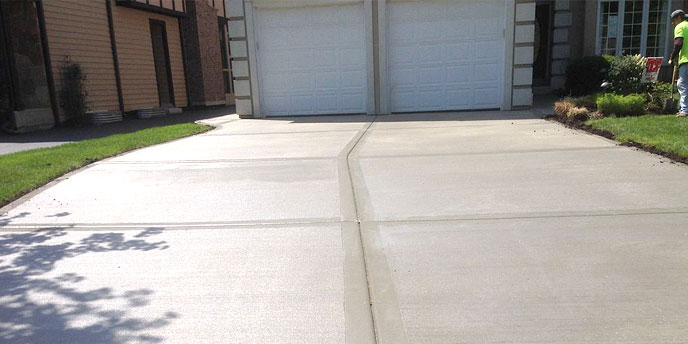Sealed and Cleaned Double-Car Concrete Drivew