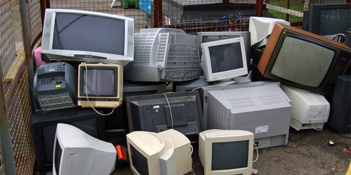 Electronics Waiting to Be Recycled