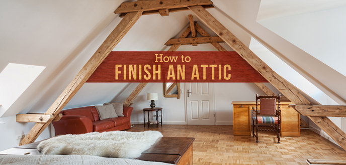 How to Finish an Attic & How to Finish an Attic and Convert It Into a Room | Budget Dumpster